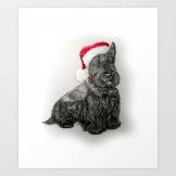 santa-scottie-dog-prints